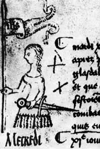 Only known/confirmed contemporary depiction of Joan of Arc is this sketch.