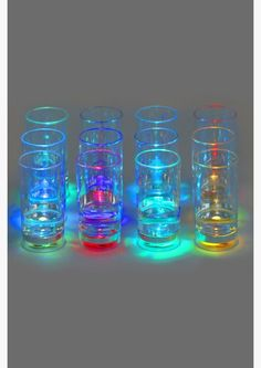 These LED Flashing Shot Glasses Lights Up any Party #drinking trendhunter.com