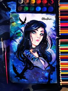 Yennefer watercolor Witcher 3 by CharlienChan
