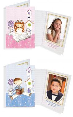 Portafotos en cartulina niño o niña Primera Comunión [90-450.343-44] - 1.00€ : Cosas43.es