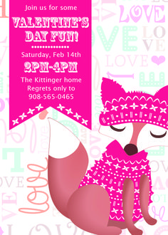 Valentine's Day party invitation design. $10.00. Make it your own at www.pattycakespapers.etsy.com