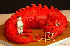 Chinese Dragon Cake by CakesbyMaylene