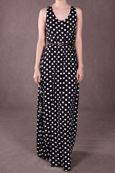 Black and White Polk-a-dot Maxi dress