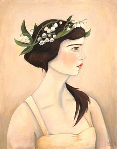 LILY OF THE VALLEY The Flower Girl by Artist Emily Winfield Martin at Black Apple