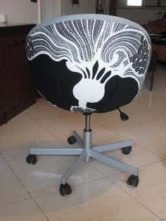 office chair makeover. IKEA Skruvsta Office Chair Makeover N