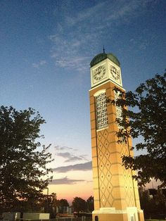 Beautiful shot of the tower at sunset #gvsu
