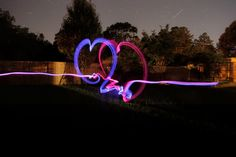 Glow Sticks Fun - M should try this for her photography project