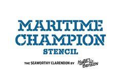 Maritime Champion Stencil by Kyle Wayne Benson on @creativemarket