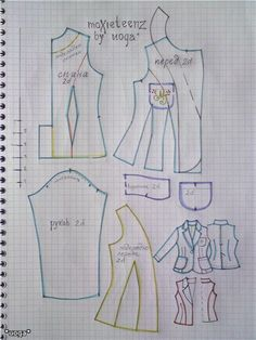 Изображение Moxie Teenz blazer pattern