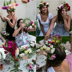 make your own flower crown - hen party - Google Search