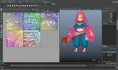 Autodesk Maya を使って3DCGのキャラクター制作を行います。第3回ではモデリングとUV展開です。UV展開はMaya 2016の新機能を活用していきます。