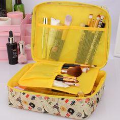 NeceserBrand 대용량 휴대용 세면 화장품 가방 방수 메이크업 주최자 저장 파우치 여행 키트 가방