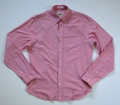 GANT RUGGER the Hugger MENS M medium Old Loom Oxford BUTTON DOWN SHIRT #GANT #ButtonFront