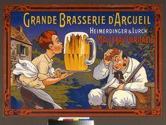 """""""Grande Brasserie d'Arcueil : Heimerdinger & Lurck, Malzbrau véritable"""" d'Eugène Ogé (1861-1936). Paris, Bibliothèque nationale de France (BnF) - Photo (C) BnF, Dist. RMN-Grand Palais / image BnF"""