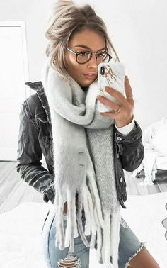 #winter #outfits white scarfe