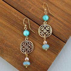 Celtic knot earrings designed by Denise Yezbak Moore