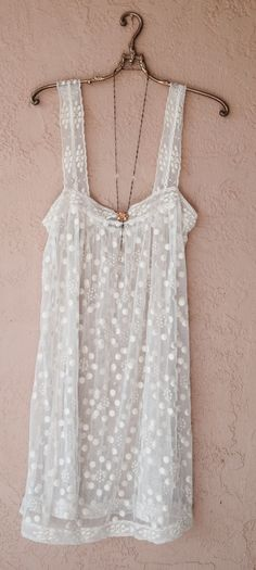 Image of BCBG sheer embroidery lace dress with wide crochet straps