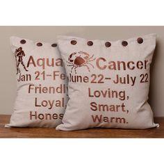 US Vendeur-ALPHONSE MUCHA Zodiac Housse de coussin décorateur Throw Pillow Cover