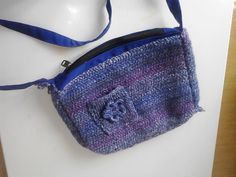 crochet purple blue handbag by creatingbyVilly on Etsy Blue Handbags, My Etsy Shop, Trending Outfits, Purple, Crochet, Unique Jewelry, Handmade Gifts, Shopping, Vintage