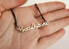 Name necklace sterling silver, κοσμώ