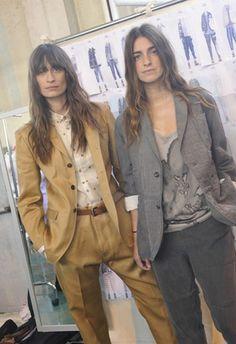 Caroline de Maigret and Joanna Preiss chanelling Patti Smith?