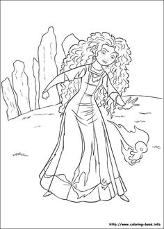 BRAVE MERIDA COLORING PAGES | Disney Coloring Pages | Pinterest ...
