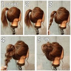 Easy and fast hairstyles for medium hair - Neue Besten Haare Frisuren ideen 2019 - Cheveux Fast Hairstyles, Pretty Hairstyles, Hairstyle Ideas, Easy Hairstyles For Work, Braid Hairstyles, Fashion Hairstyles, Hairstyle Tutorials, Casual Updo Hairstyles, Step By Step Hairstyles