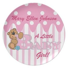 A Little Baby Girl Party Dinner Plate