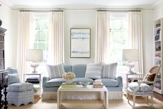 A favorite room by Sarah Bartholomew with oomph scallop slipper chairs.