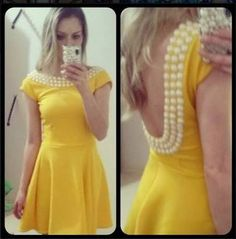 Resultado de imagem para vestido amarelo