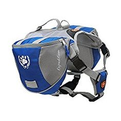 MY PET for Dog Backpack Bagpacks Pack Back Adjustable Saddle Bag Hiking Training Travel Waterproof Style with Reflective Strip Accessory Blue Large