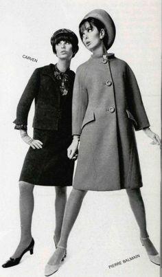 1966 coats Nina Ricci and  Balmain