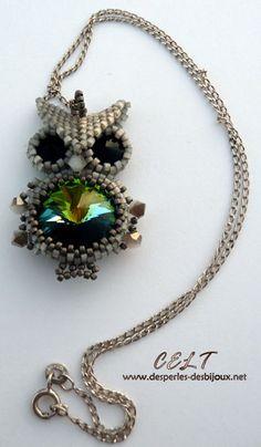 Des perles des bijoux :: Bagues Bracelets Pendentifs :: Un chouette hibou