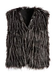 Pretty Attitude Womens Faux Fur Black…