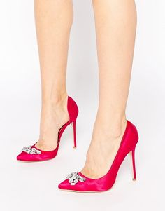 London Rebel | London Rebel Embellished Court Shoes at ASOS