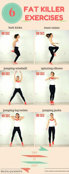 Speed up your metabolism and lose weight with these 6 fat killer exercises. No equipment needed.