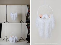 How to make your own newborn dream catcher prop for under $15.