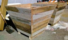 Recycled Wood Planter Box. This comes with a pdf showing you how to construct this planter. It's very easy and you only need basic knowledge to construct it. Although not made from old pallets it is made from recycled wood.
