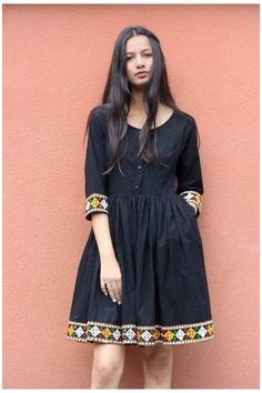 Frock Fashion, Indian Fashion Dresses, Dress Indian Style, Girls Fashion Clothes, Stylish Dresses For Girls, Stylish Dress Designs, Casual Dresses, Short Dresses, Dresses For Women