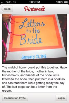 book for bride made my maid of honour