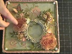 decorating a cigar box ...very pretty