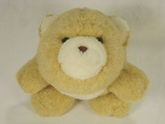 Snuffles-Bear-Vintage-Gund-Plush-1980-7-Inches-Tan-Cream-Crazy-About-Critters