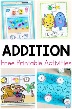 Free Printable Addition Activities
