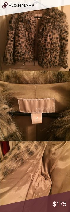 Michael Kors Leopard Faux Fur Coat Immaculate condition~Only Worn for formal functions in which it matched or was appropriate. Michael Kors Leopard Faux Fur Coat. Michael Kors Jackets & Coats