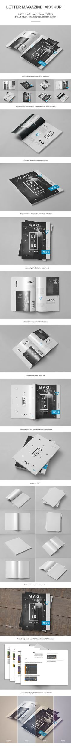Letter Magazine / Brochure Mock-up II by yogurt86, via Behance
