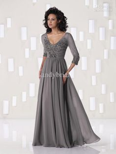 Wholesale Top Selling V-neck 3/4 Sleeve Sexy Mother Of The Bride Dresses Discount Off Chiffon Mother Dresses, Free shipping, $92.99-120.99/Piece | DHgate