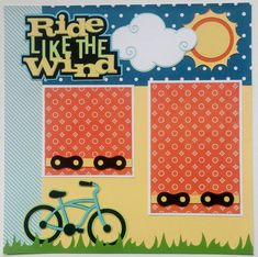 Bike riding scrapbook page  Riding a bike by ohioscrapper on Etsy
