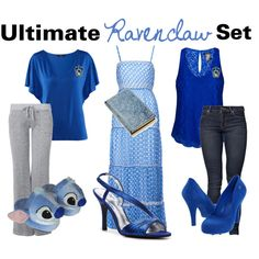 Ultimate Ravenclaw Set, created by nearlysamantha on Polyvore