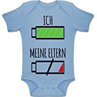 Strampler Motive - Ich und meine Eltern Batterie - Kurzarm Baby-Strampler / Body für Jungen und Mädchen