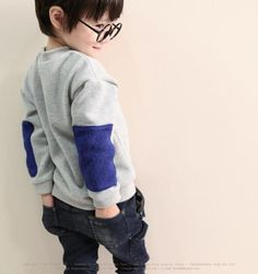 Color Blue Patches (could do this with the pullover pattern from sewing for boys book)